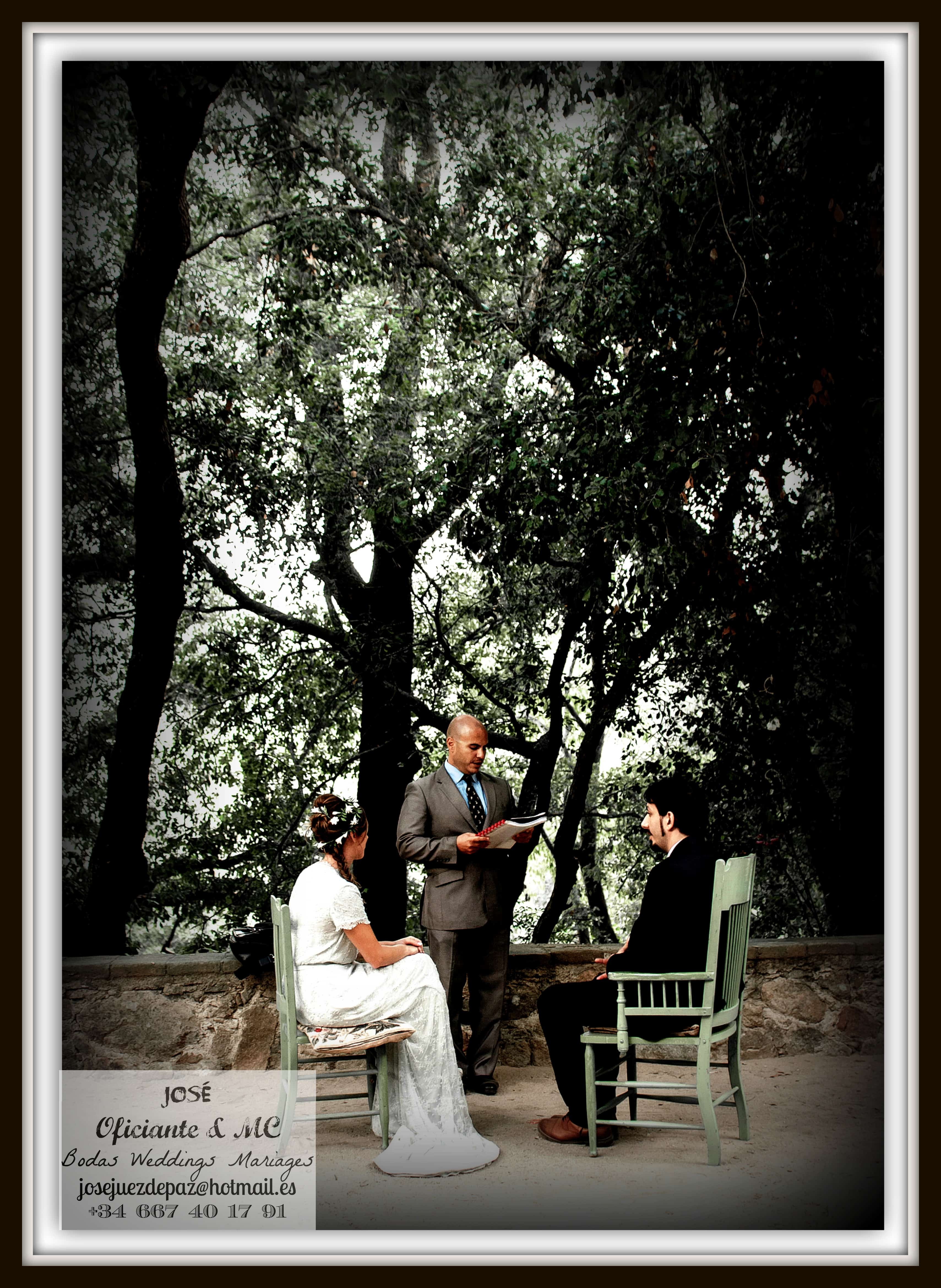 Jose Juez de Paz Bodas Civiles Oficiante Maestro de Ceremonias Weddings Mariages Spain Trees Vintage 2