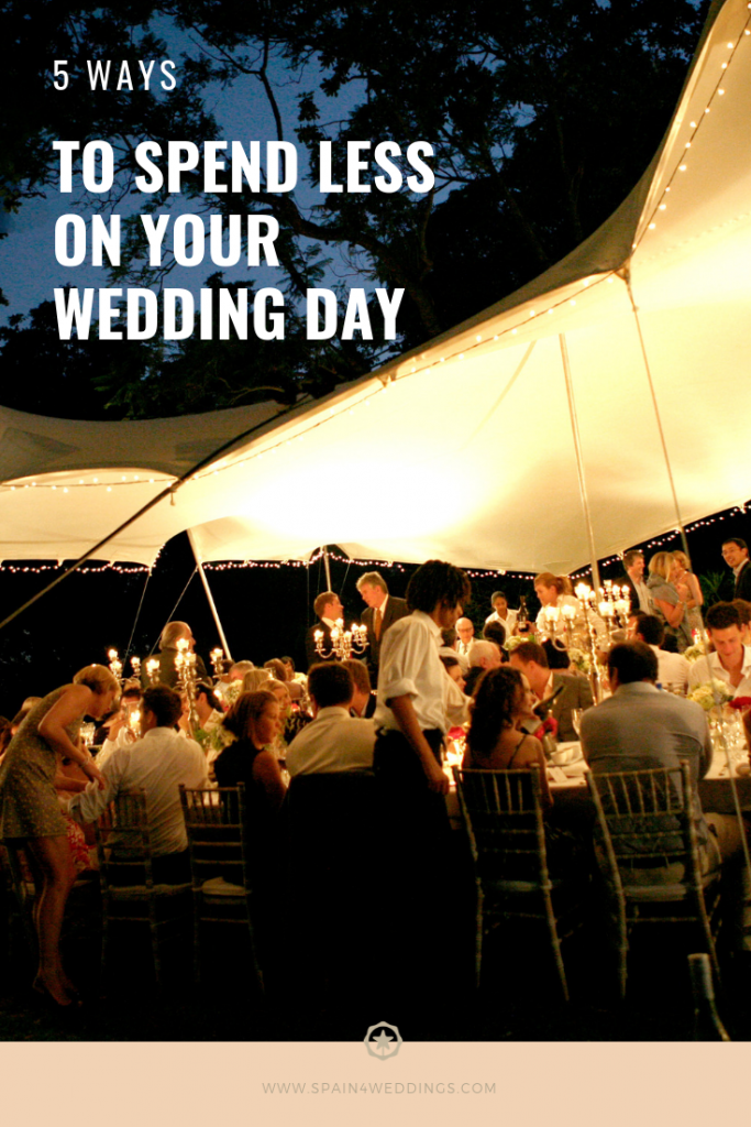 5 Ways to spend less on your wedding day