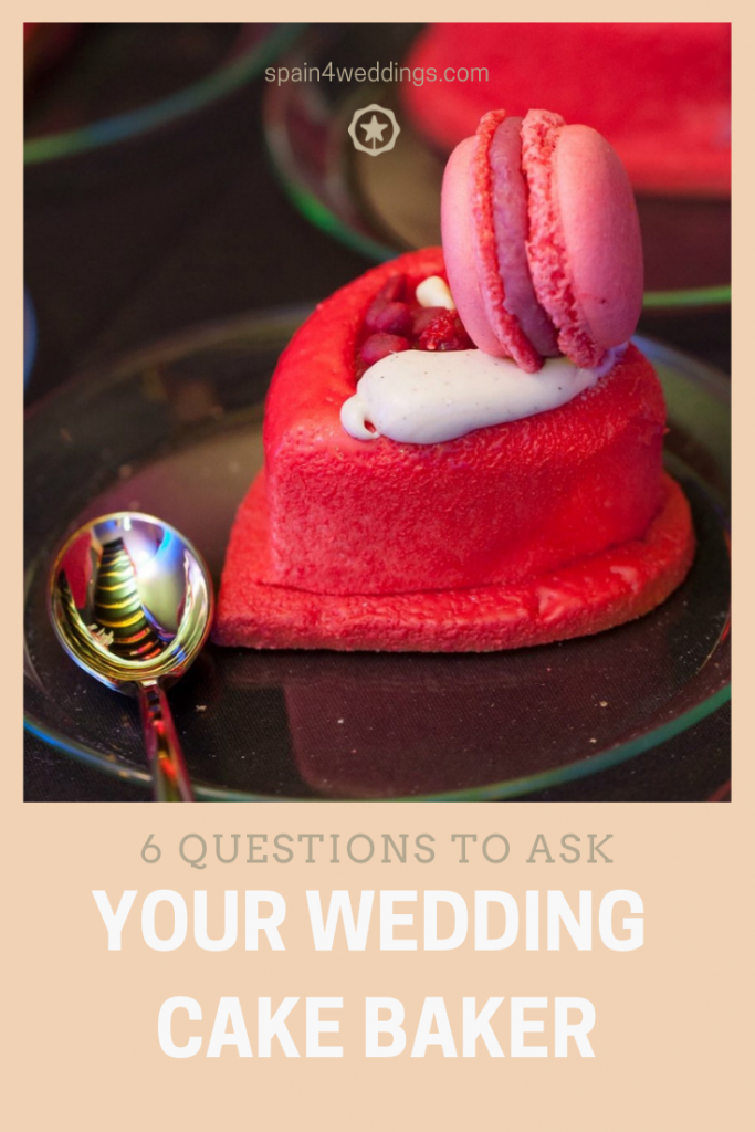 6 questions to ask your wedding cake baker