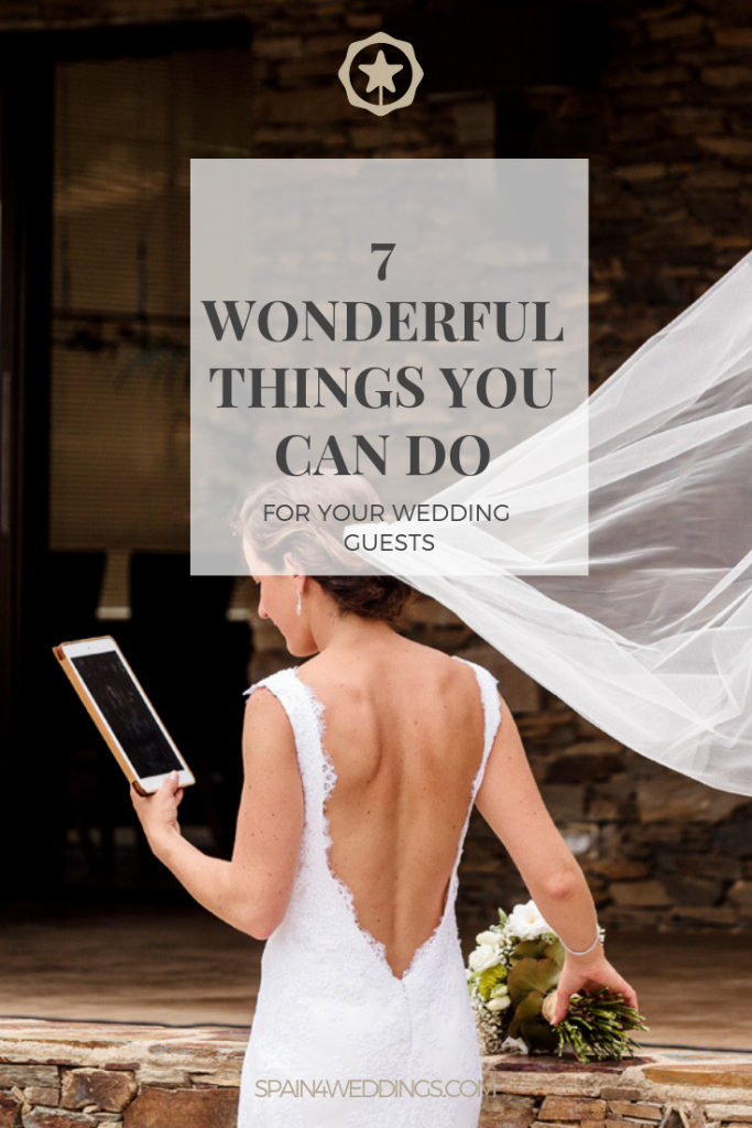 7 Wonderful things you can do for your wedding guests