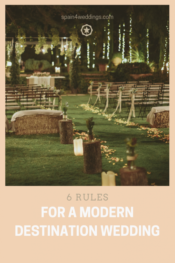 6 Rules for a modern destination wedding