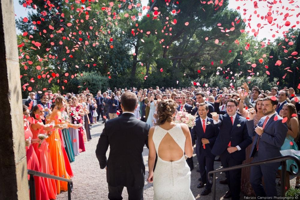 A luxury destination wedding in Barcelona. Photo by Castell de Peralada