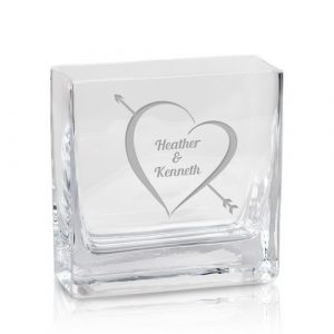 Cupid's Arrow Personalized Glass Vase